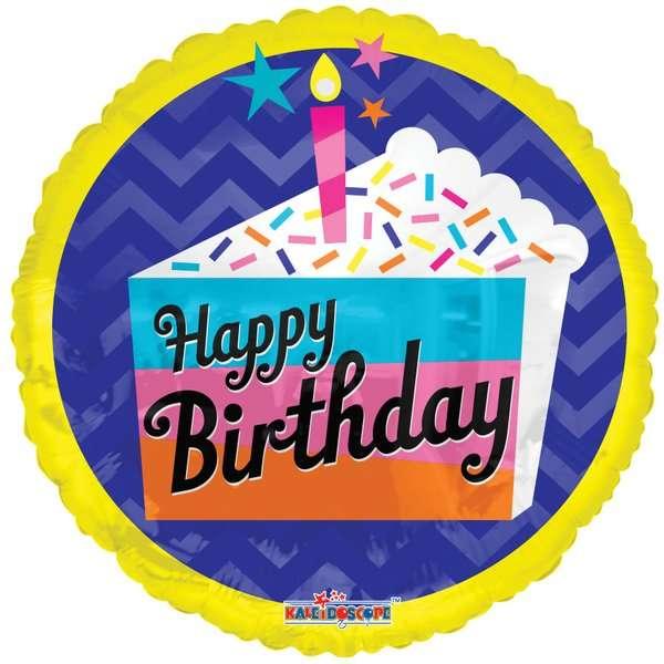 Globo Mylar Happy Birthday Cake