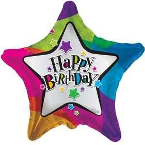 Globo Mylar Happy Birthday Estrellas