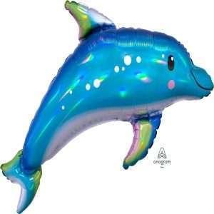 Globo Mylar Delfin Iridiscente