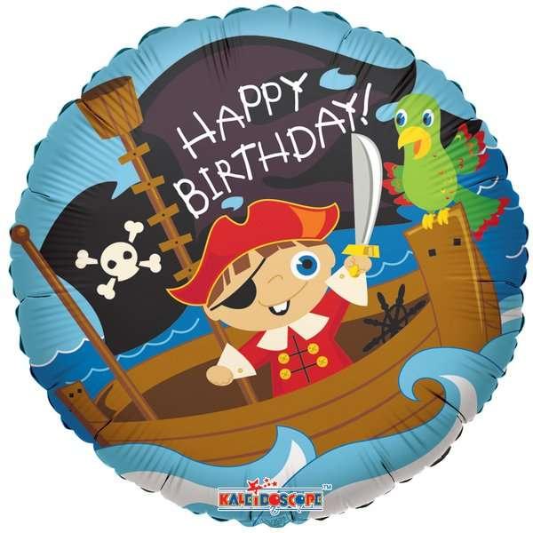 Globo Mylar Happy Birthday Pirata