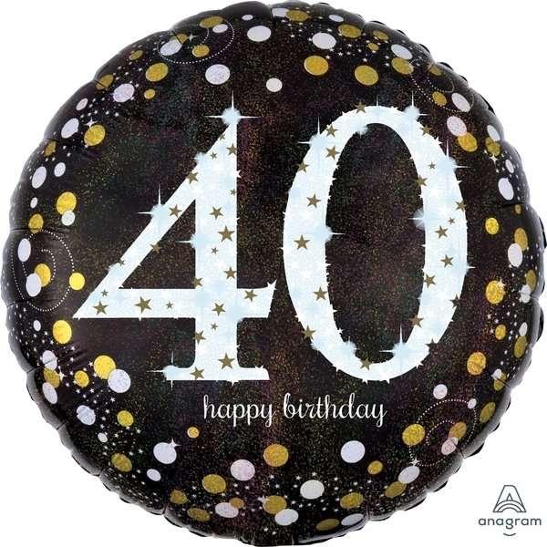 Globo Mylar 40 Birthday