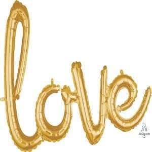 Globo Mylar Love Dorado