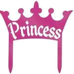 Cake Topper Princess Rosado